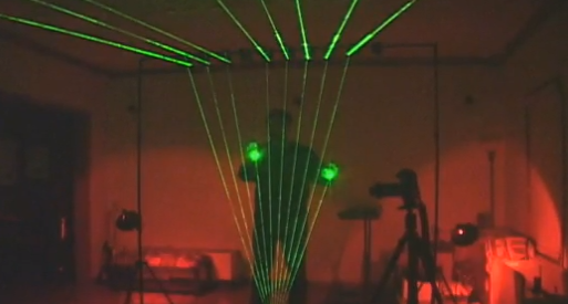 Post image for Laser Harp Is A Harp Of Lasers