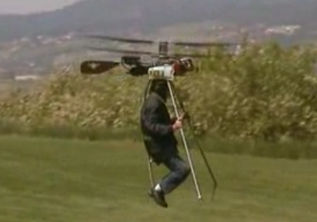 Post image for Mad Man Invents Small Personal Helicopter