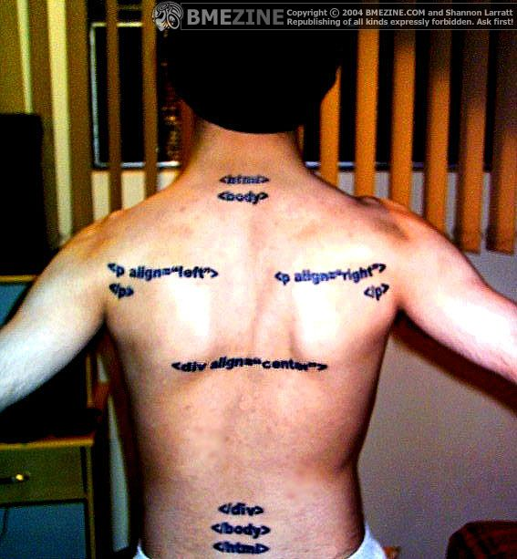 Html In Real Life Tattoos
